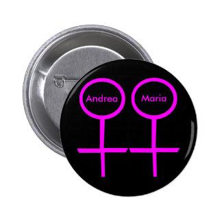 Lesbian Lovers Customizable Button