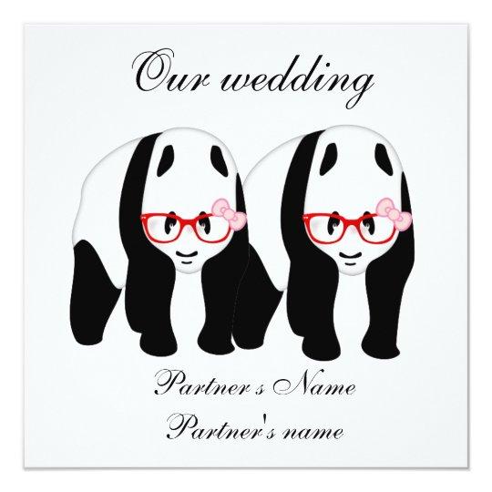 Lesbian, Panda's wedding invitation