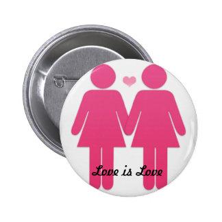 Lesbian Pride Pinback Buttons