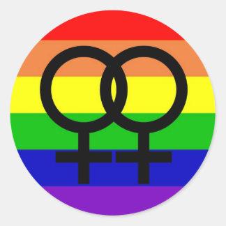 Lesbian Pride Classic Round Sticker
