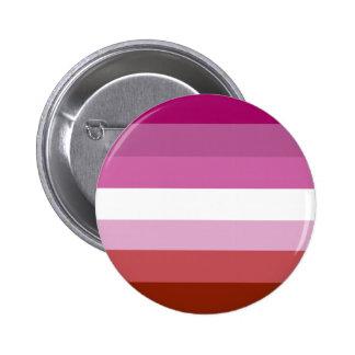 Lesbian pride flag 6 cm round badge