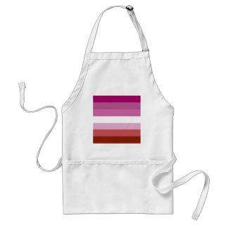 Lesbian pride flag apron