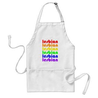 Lesbian Rainbow Standard Apron