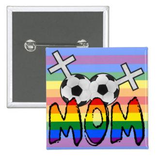 Lesbian Soccer Mom (w/ rainbow) Pins