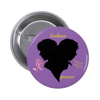 lesbian swipes in 6 cm round badge