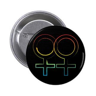 lesbian symbol 6 cm round badge