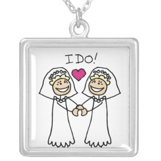 Lesbian Wedding Bridal Custom Necklace