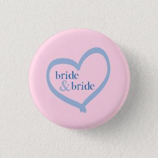 Lesbian Wedding Bride & Bride 3 Cm Round Badge
