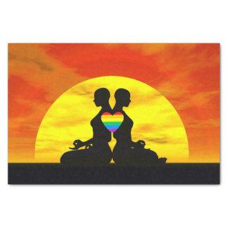 Lesbian yoga love - 3D render Tissue Paper