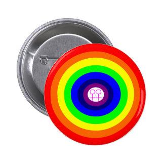 Lesbians Round Rainbow Button