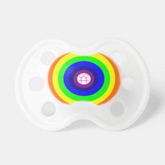 Lesbians Round Rainbow Pacifier