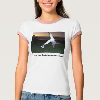 Lesbos Love Cartwheels on the Beach T-Shirt