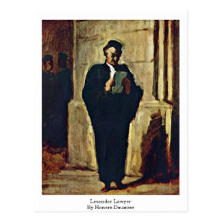 Lesender Lawyer By Honore Daumier Postcard