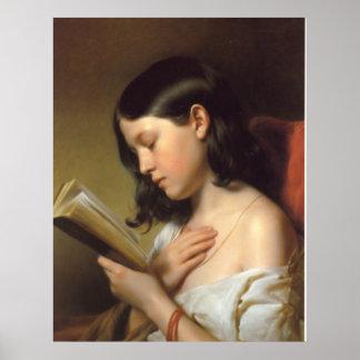 Lesendes Mädchen Poster