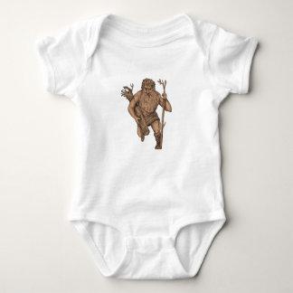 Leshy Tree Runk Staff Tattoo Baby Bodysuit