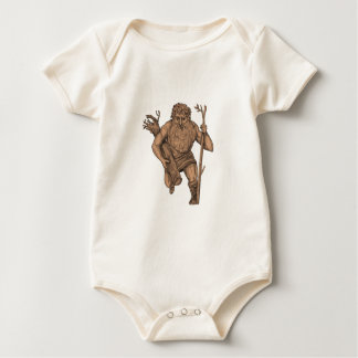 Leshy Tree Runk Staff Tattoo Baby Bodysuit