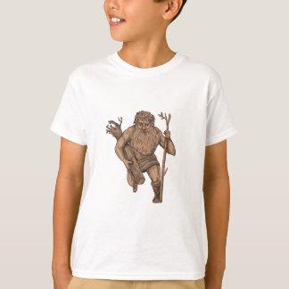 Leshy Tree Runk Staff Tattoo T-Shirt