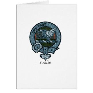 Leslie Clan Crest Card