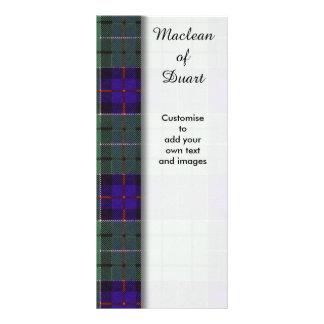 Leslie clan Plaid Scottish tartan Personalised Rack Card