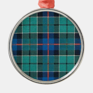 LESLIE FAMILY TARTAN METAL ORNAMENT
