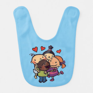 Leslie Patricelli Group Hug with Friends Baby Bib
