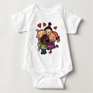 Leslie Patricelli Group Hug with Friends Baby Bodysuit