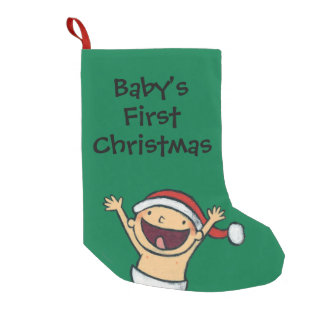 Leslie Patricelli's Baby Dancing In Santa Hat Small Christmas Stocking