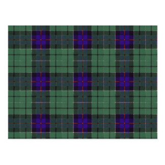 Leslie Scottish Tartan pattern Postcard