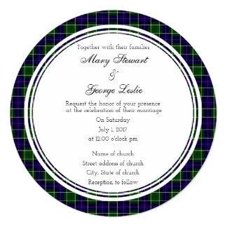 Leslie Scottish Wedding Round Invitation