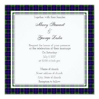 Leslie Scottish Wedding Square Invitation
