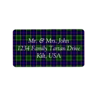Leslie Tartan Label Address Label