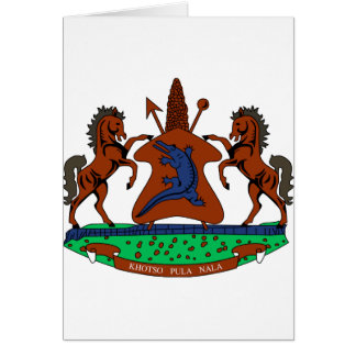 Lesotho Coat of Arms Card