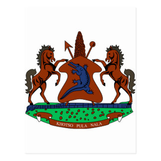 Lesotho Coat of Arms Postcard