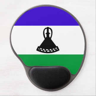 Lesotho country long flag nation symbol republic gel mouse pad