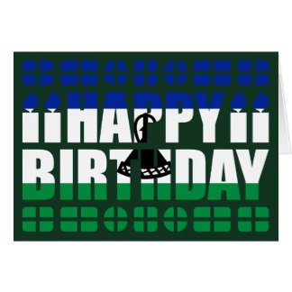 Lesotho Flag Birthday Card