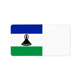Lesotho Flag Label
