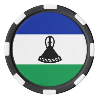 Lesotho Flag Set Of Poker Chips