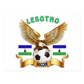 Lesotho Football Designs Postcard