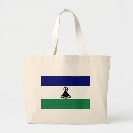 Lesotho National Flag Canvas Bag