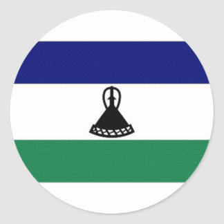 Lesotho National Flag Round Sticker