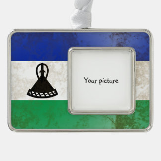 Lesotho Silver Plated Framed Ornament
