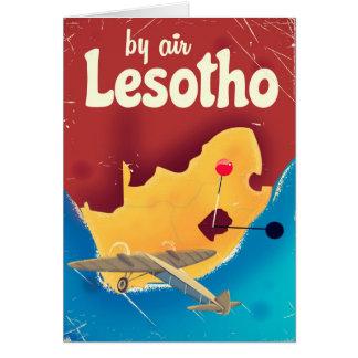Lesotho Vintage travel flight poster Card