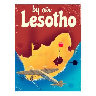 Lesotho Vintage travel flight poster Postcard