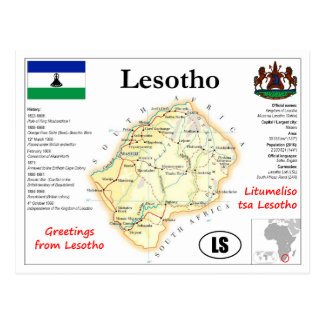 Lesptho map Postcard