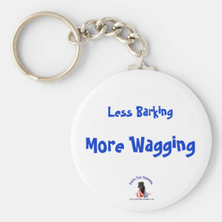 Less Barking More Wagging Key Ring