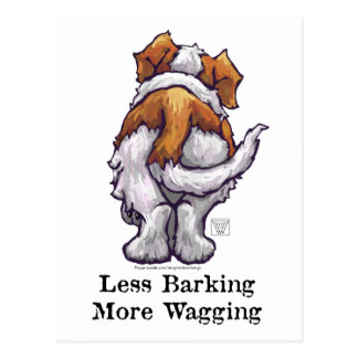 Less Barking, More Wagging Postcard
