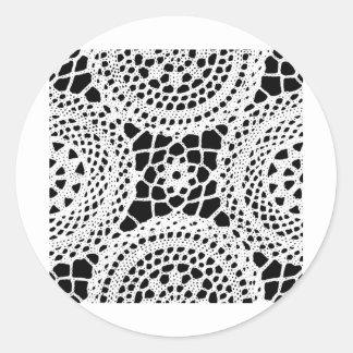 Less  Circle Beautiful Design Style Fashion Fame F Round Sticker