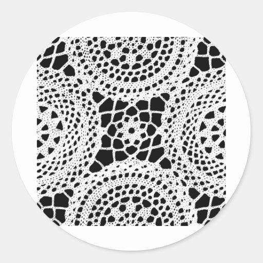 Less  Circle Beautiful Design Style Fashion Fame F Round Stickers