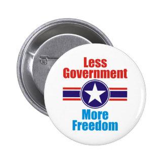 less government 6 cm round badge