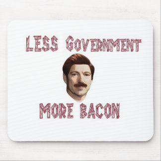 """""""Less Government More Bacon"""" Rand/Swanson Mousepad"""